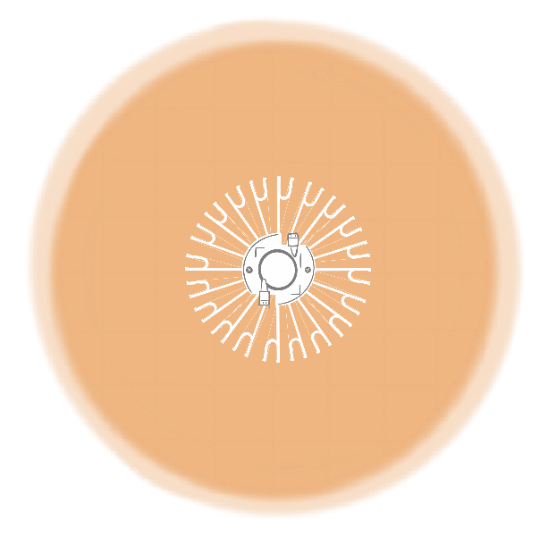 Combinación de lámparas TGL 60 para 60 x 60 centímetros